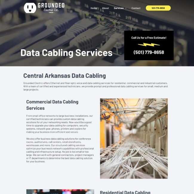 Grounded Electric website services page