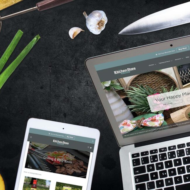 The Kitchen Store website devices