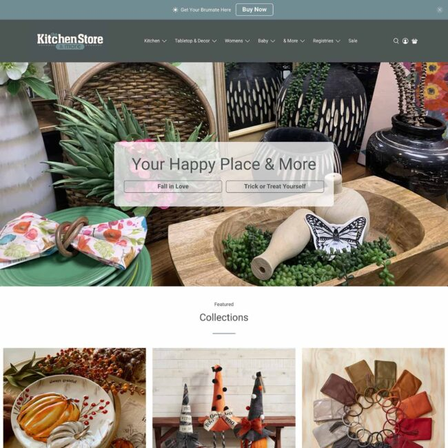 The Kitchen Store website homepage